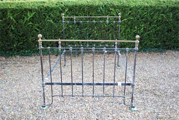 brass and iron bedstead